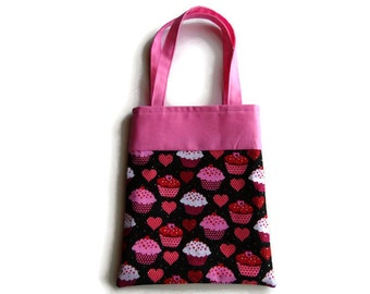 Small Fabric Gift Bag/Goodie Bag - Cupcakes
