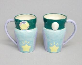 Opal Fusion Mug: Crystal Gem Inspired Steven Universe Ceramic Coffee Mug