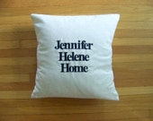 "8x23"" farmhouse pillow cover in navy"