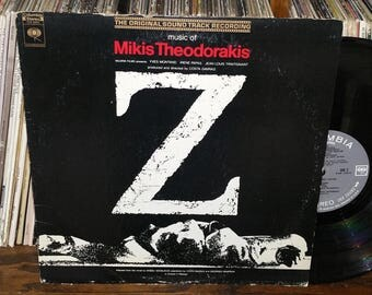 Z Vintage Vinyl Motion Picture Soundtrack Record