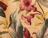 Barkcloth Curtain Panel