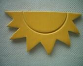 PAR - Small YELLOW SUN - Ceramic Mosaic Tile