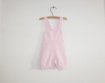 Vintage Pink Baby Romper