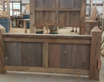 Your Custom Made Industrial 4 Piece Bedroom Set With Bed, Dresser, and 2 Night Stands FREE SHIPPING - BRS42D