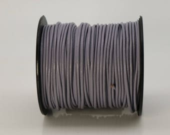 5 feet Gray Leather Cord - 2mm Genuine Leather Round Cord (09) - USA Seller