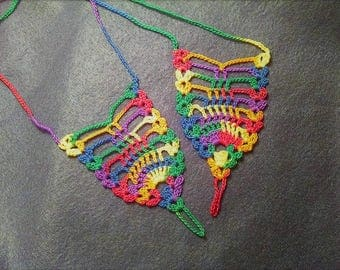 Barefoot Sandals, Beach Sandals, Crochet Rainbow Sandals, Boho Footwear