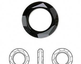 Swarovski 4139 crystal cosmic ring in jet black 30mm - Swarovski pendant - black diamond
