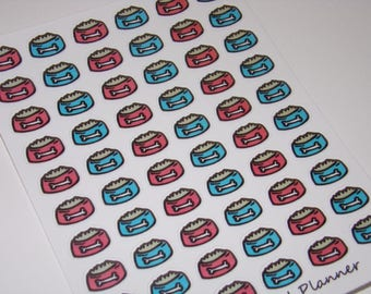 60 Feed the Dog Stickers / Planner Stickers ~ Great for your Erin Condren Life Planner/ Hand-drawn