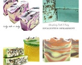3 Handcrafted Vegan Soaps - Get Discount and FLAT Rate Shipping - Elegant Packaging