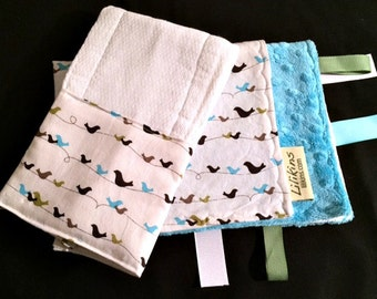 Bird on a Wire - Security Blanket and Burp Cloth