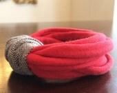 upcycled t-shirt / fabric multi-strand bracelet