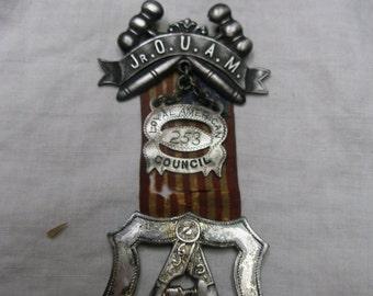Junior Order of United American Mechanics, medal, silver metal, late 1800s
