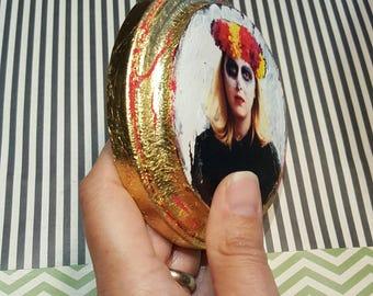 Day of the Dead, 4 x 4, Original Art, Unique Fine Art, Photography, Dia De Los Muertos, Flower Headdress