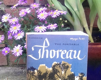 The Portable THOREAU Vintage Paperback 1959 exc condition nature outdoors mystic