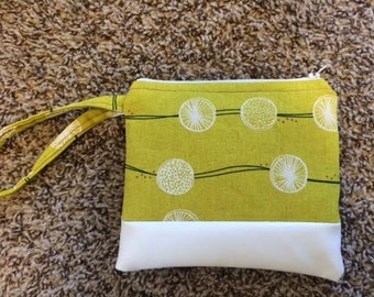 Green pouch, lime green, zippered pouch, green, lime green pouch, root crops