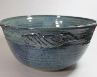 Large Salad Bowl, Serving Bowl Centerpiece Bowl - in beautiful sky blue with handles In Stock and   Ready to Ship