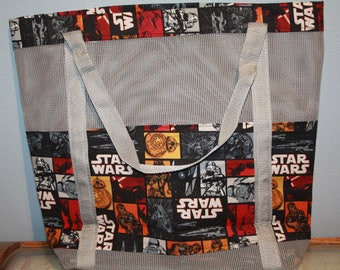 Star Wars Vinyl Mesh Tote
