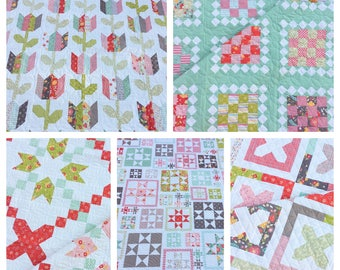 Coriander Quilts Pattern Bundle #1 (Flower Mill Release) PAPER VERSION
