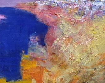 Small Box Painting 1170 - Original Oil Painting - 22.7 cm x 22.7 cm (app. 8.9 inch x 8.9 inch)