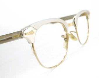 Vintage 50s Shuron Horn Rim Eyeglasses Frame