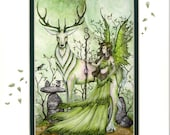 Hand Accented Fairy PRINT 5x7 matted 8x10 by Amy Brown