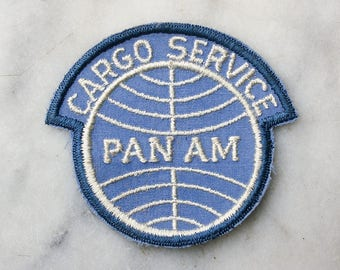 Vintage Pan Am Airlines Uniform Patch / 1970's Jacket Patch / Cargo Service