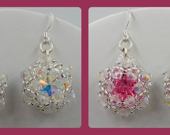 Bling in the New Year Earrings PDF Jewelry Making Tutorial Pattern (INSTANT DOWNLOAD)
