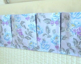Bedside Organizing Caddy in a Lavendar Floral Design