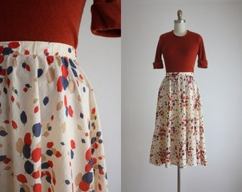 1970s indian cotton skirt