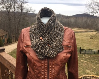 Hand Knit  Llama Neck Warmer, Versatile and Warm Winter Fashion
