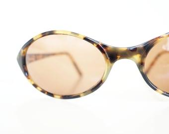 Vintage French Eyeglasses 1980s Sunglasses Oval Womens Ladies Lemon Tortoiseshell Amber 80s Eighties France Sport Retro Ann Michaels