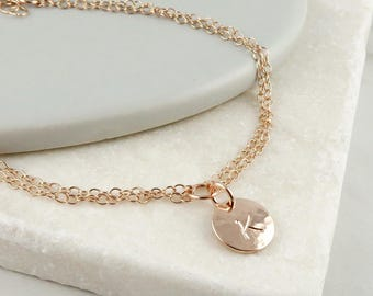 Personalised Rose Gold Bracelet, Initial Bracelet