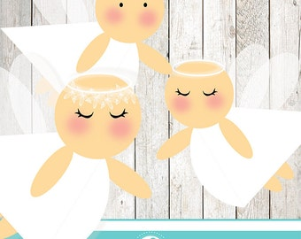 White angel clipart - COMMERCIAL USE OK