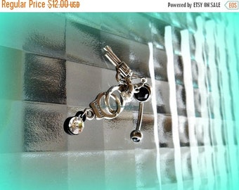 Xmas Sale Gun Cuffs Belly Ring, Trendy Belly Rings,Trending Belly Rings, Piercing, Hipster Belly Ring,Beach Belly Ring, Ready to Ship, Direc