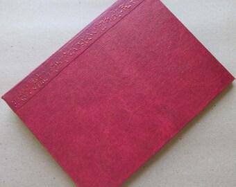 Handmade Refillable Journal Distressed Red 8x6 Original traveller notebook fauxdori