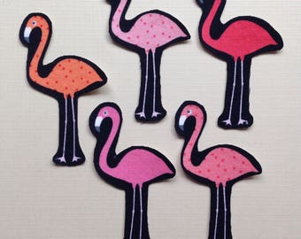Iron On Flamingo Appliques