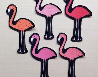 Iron On Flamingo Appliques