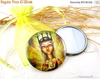 Spring cleaning sale The gift of Life - Pocket mirror