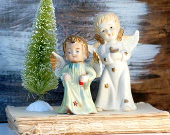 Vintage Angels 1950's Christmas Retro Angels Holiday Decor Cherubs