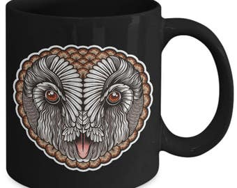 Masked Owl Bird Avian Coffee Mug