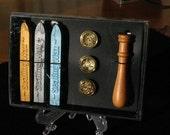 Wax Seals Spiritual Set~Sealing Wax~Spell Writing Supplies~Scrap Booking