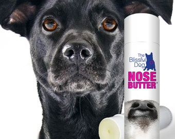 The ORIGINAL Dog NOSE BUTTER® Handcrafted, All Natural Moisturizing Balm forRough, Dry Crusty Dog Noses .50 oz Tube with Just A Nose Label