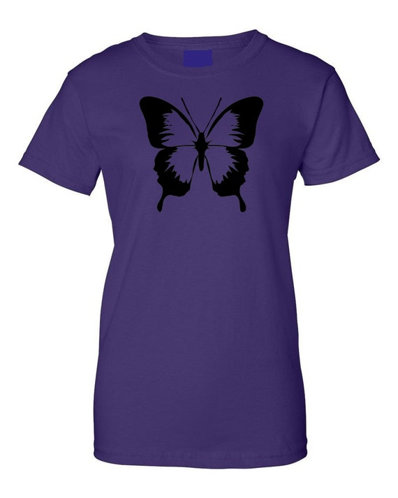 Butterfly moth silkscreen t shirt silk screen handmade for Silk screen t shirt