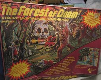 Vintage 1981 Forest of Doom Adventure Playset game toy 60 Figures Dragon Castle toy ogres