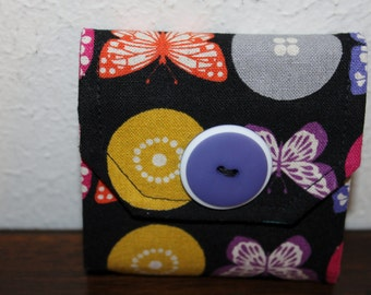 Sticky Note Holder-Butterflies and Bees on Black