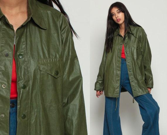 Greatest Army Jacket Raincoat 70s Coat Military Jacket Rain Jacket TH96