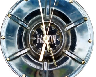 Hubcap Clock, Ford Fairlane, Falcon, Torino, Galaxy, and Mercury with numbering (v1206 hub cap)