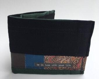 Bifold wallet, recycled wallet, vegan wallets, men's wallet, hand made wallets