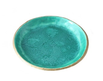 Teal Ring Dish - Jewelry Holder - Trinket Dish - Coin Tray - Jewelry Storage - Turquoise Bedroom Decor - Gifts for Her - Gifts for Home