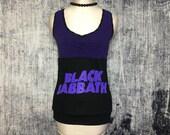 Black Sabbath Women's Tank Top // Reconstructed T-Shirt // Size Small // Gothic Music Alternative Metal